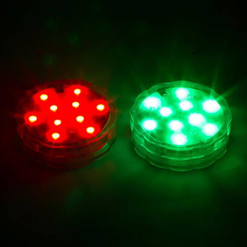 LED Lights for Disc Golf Basket, Set of 2 Remote Controlled By Trademark Innovations, Basket not Included by Trademark Innovations