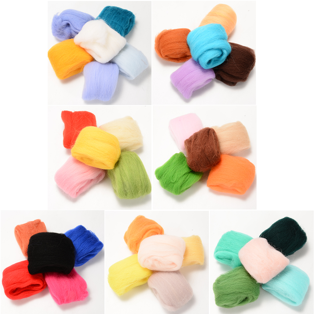 Wool art yarn Wool fiber grab bag Needle felting wool Bag of yarn Art yarn bundle Felting yarn Pink wool yarn mix Bundle of yarn