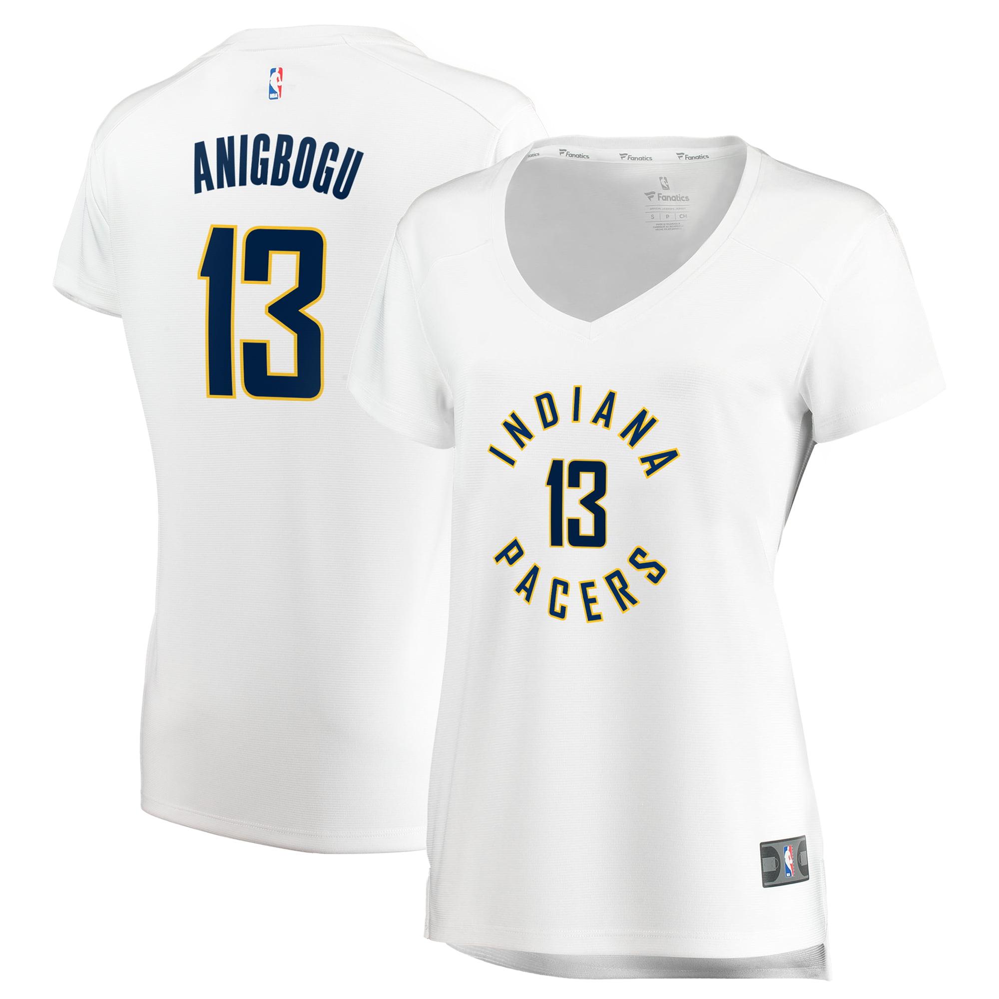 Ike Anigbogu Indiana Pacers Fanatics Branded Women's Fast Break Replica Jersey - Association Edition - White