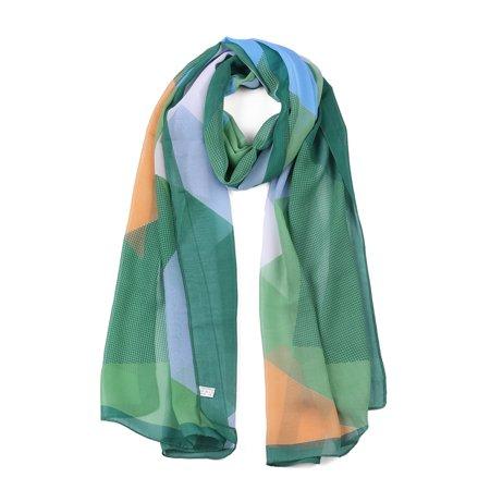 Chiffon Shawls Long Geometric Beach Scarf Silk Scarves for Women Blue/Purple - image 1 de 1
