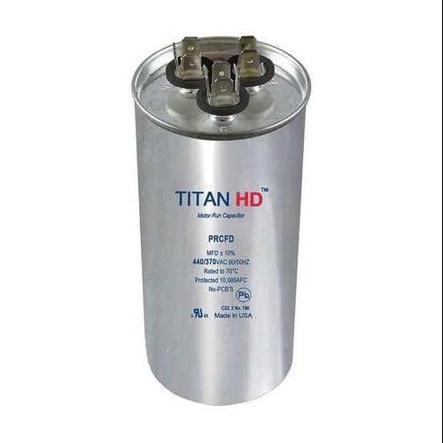 TITAN HD PRCFD353A Motor Run Capacitor, 35/3 MFD, 440V, Round