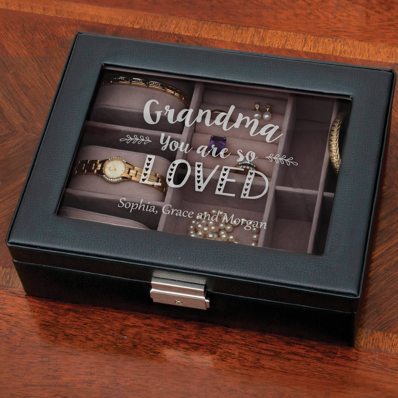 Grandma You Are So Loved Personalized Jewelry Box Walmartcom