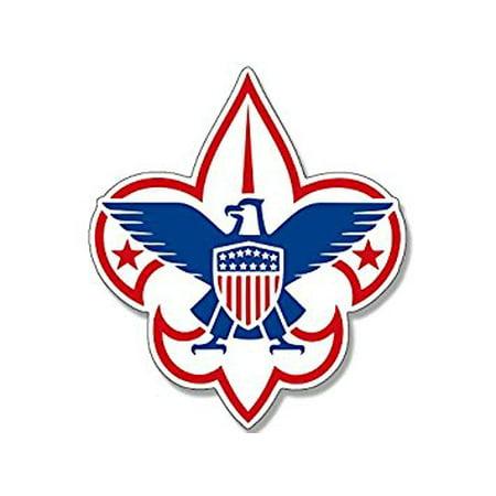 Boy Scouts AMERICA Fleur De Lis Logo Sticker Decal (scouting emblem insigina) 4 x 4 inch
