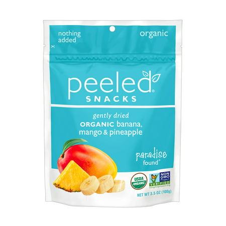 Peeled Snacks, Paradise Found (Bananan, Pineapple, Mango), 12 count