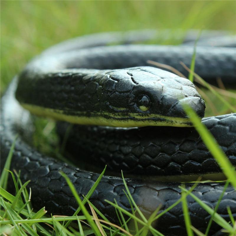"52"" Realistic Soft Rubber Snake Toys Garden Prop Joke Prank Kids Costume Accessory April Fools' Day"