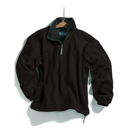 Tri-Mountain Escape 7100 Micro Fleece Pullover, 2X-Large, Black/Black - Mountain Hardwear Nylon Sweater