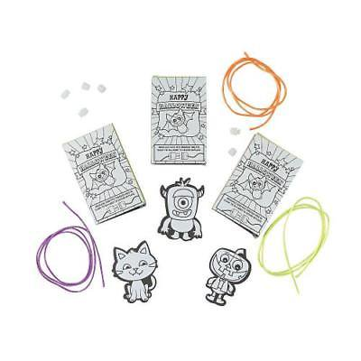 Color Your Own Halloween Necklace with Gift Box Craft Kit