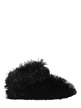 Nine West Women's Fluffy Pile Bootie Slippers