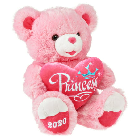 Way To Celebrate 2020 Pink Princess Sweetheart Teddy Bear