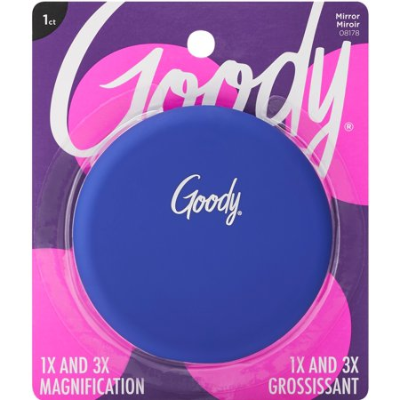 Goody Soft Touch Compact Mirror With Dual Magnification Assorted Colors 8178