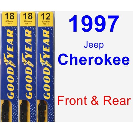1997 Jeep Cherokee Wiper Blade Set/Kit (Front & Rear) (3 Blades) - Premium
