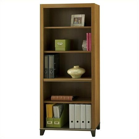 Bush Furniture Achieve Collection Bookcase In Warm Oak