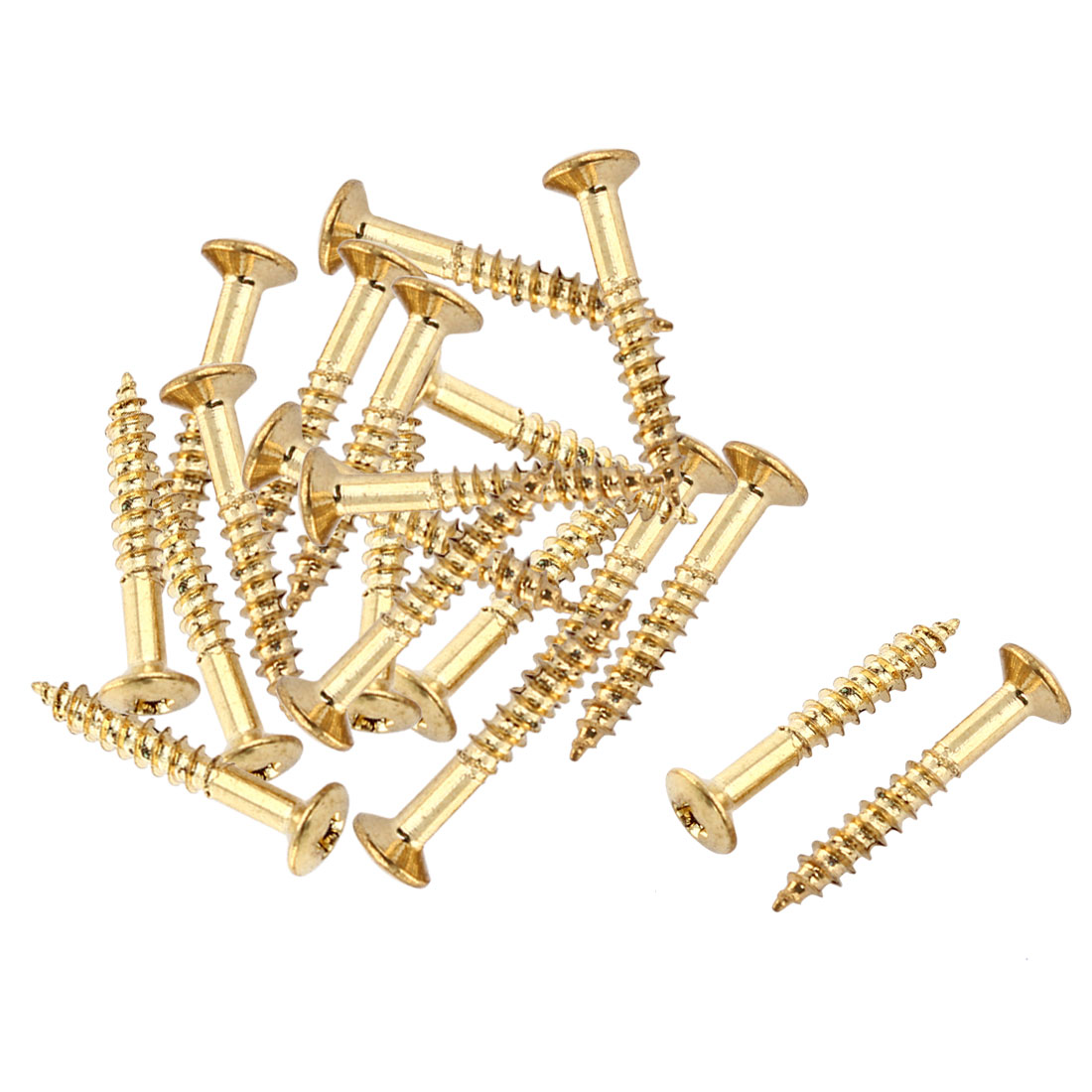 Pickup Frame Electric Guitar Pickguard Mounting  Screw Gold Tone 20pcs