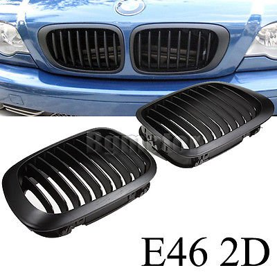Kidney Sport Grille Grill For BMW E46 3 Series 2 Door 2D Coupe Cabridet 98-02 US 2006 Bmw Z4m Coupe