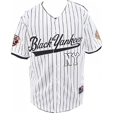 finest selection 79735 36253 New York NY Black Yankees Legends S3 Mens Baseball Jersey [White - M]
