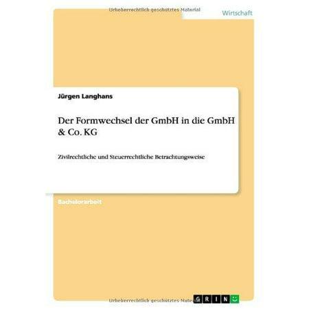 Der Formwechsel Der Gmbh in Die Gmbh & Co. Kg - image 1 de 1