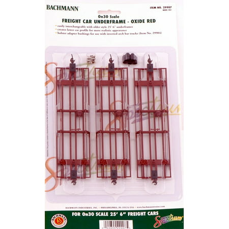 Bachmann On30 Scale Train Freight Car Underframe Oxide Red (Marklin Freight Car)