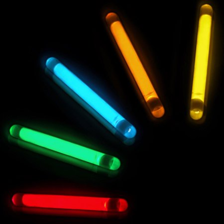 Halloween Stick Pins (GiftExpress 100 Pcs Small Assorted Color Glow Sticks/Mini Glow Sticks/Fishing Floats Perfect for Stuffing Easter Egg/Zombie Party/Easter Egg Hunt/Halloween)