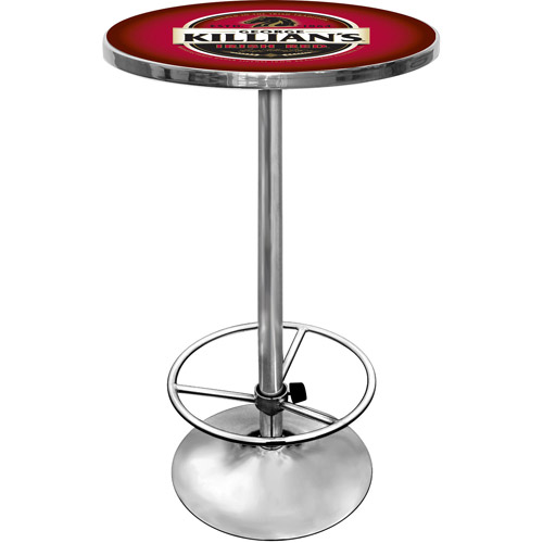"Trademark George Killians Irish Red 42"" Pub Table, Chrome"