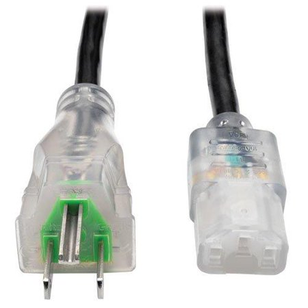 Tripp Lite P006-003-hg13cl Standard Power Cord - For Computer, Scanner, Printer, Monitor - 120 V Ac Voltage Rating - 13 A Current Rating - Black (p006-003-hg13cl)