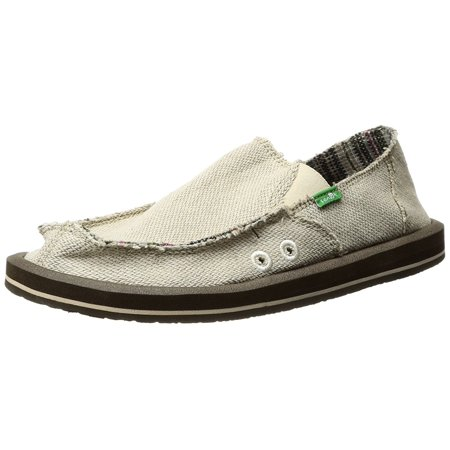 Sanuk Mens Hemp Slip-On - Natural - 8 M - SMF1010-NATURAL-8