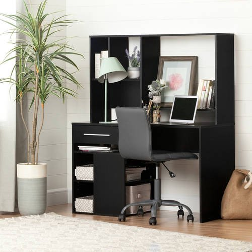 South Shore Annexe Desk And Gray Office Chair With Quilted