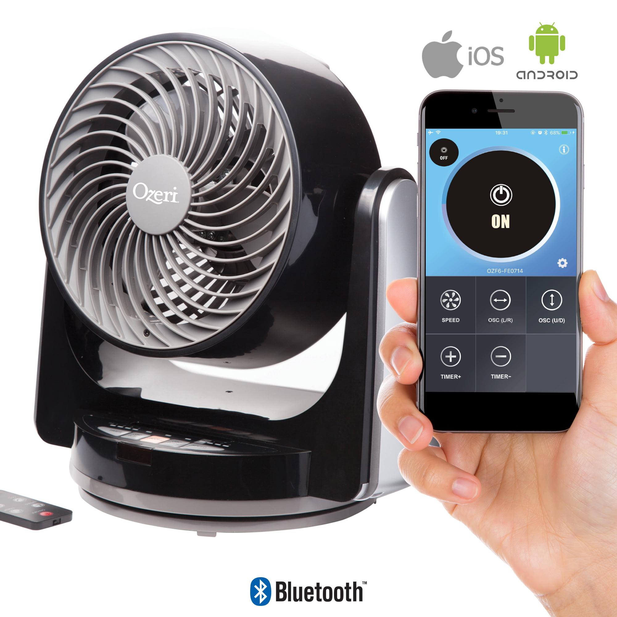 "Ozeri Brezza III Dual Oscillating 10"" High Velocity Desk Fan with Bluetooth Technology"