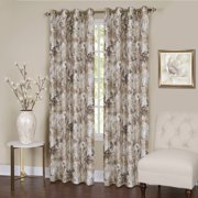 "Tranquility Set of 2 Energy Efficient Blackout Curtain Panels (50"" x 84"") with 8 Grommets - Tan"