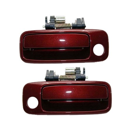 Toyota Camry Outside Door Handle (Brand NEW For Front 1997-2001 Toyota Camry Burgundy 3N6 Outside Outer Door Handle 2PCS 97 98 99 00 01)