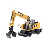 """CAT Caterpillar M318F Wheeled Excavator with Operator """"High Line Series"""" 1/50 Diecast Model by Diecast Masters"""