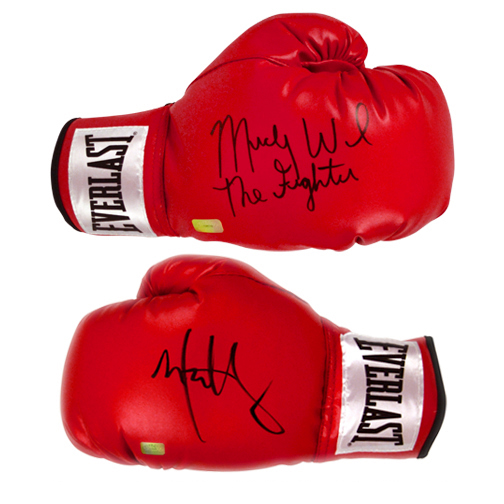 Mark Wahlberg and Micky Ward Autographed The Fighter Boxing Glove Set