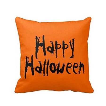 Halloween Friendly Letter (Iuhan Happy Halloween Letter Printed Square Pillow Case Sofa Waist Throw Cushion Cover Home)