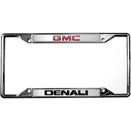 Eurosport 6605DL Gmc Denali Logo On Chrome License Plate Frame - Gmc Yukon Denali 1999