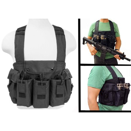 Paintball Chest Rig With 3 Double Magazine