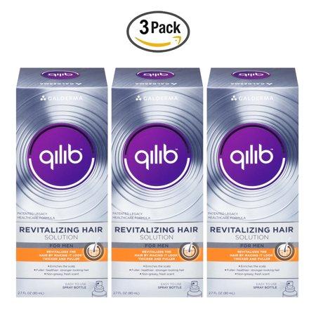 Revitalizing Spray Solution - Galderma qilib Revitalizing Hair Solution For Men, Fresh Scent, 2.7 Fl Oz (Pack Of 3)