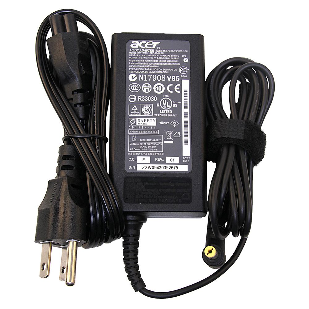 Acer Chromebook 15 CB5-571 65W Genuine Original OEM Laptop Charger AC Adapter Power Cord