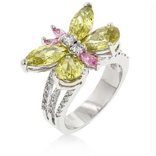 Silver Butterfly Cocktail Ring, <b>Size :</b> 06