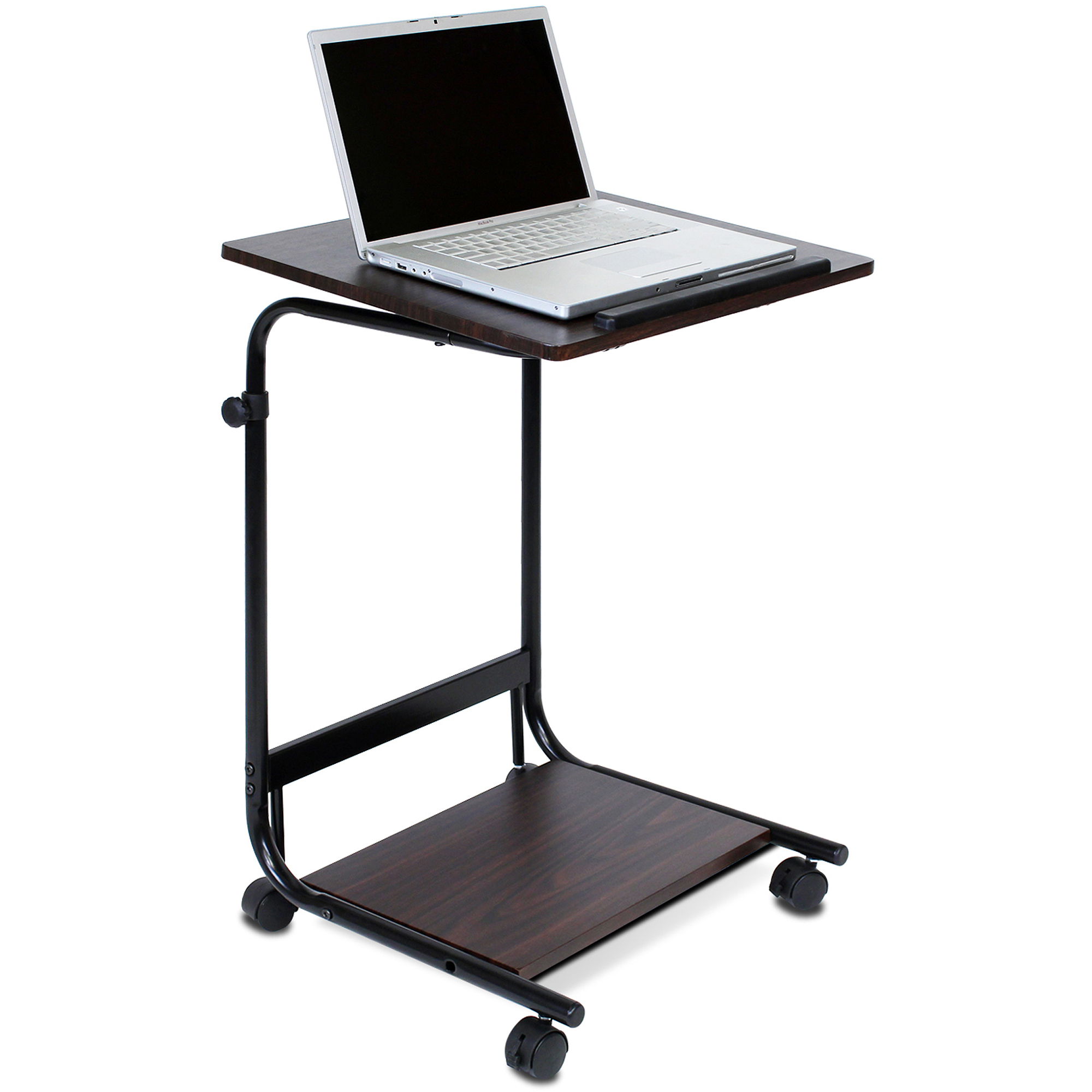 Furinno FNBL 22090 Boyate Adjustable Rolling Laptop Desk, Walnut    Walmart.com