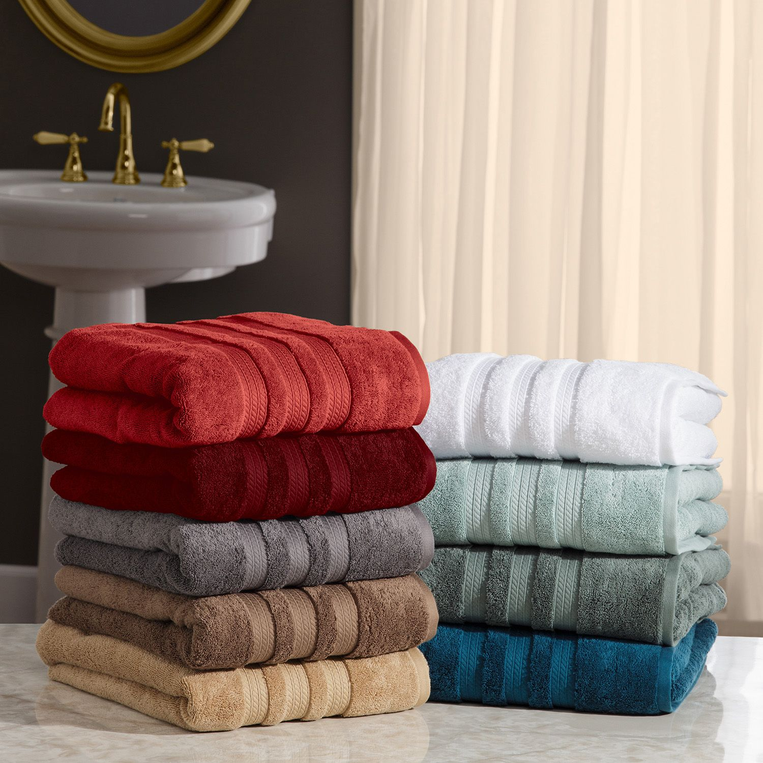 "100% Cotton Luxury Bath Towel 30"" x 58"" (Fossil)"