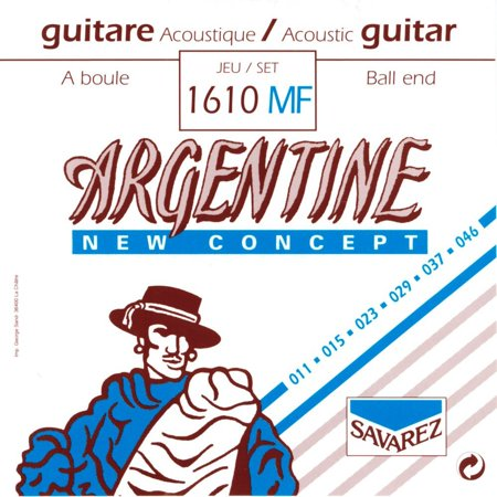1610MF Argentine Acoustic Jazz Guitar Strings, High Tension Ball End, By Savarez From (High Tension Ball)
