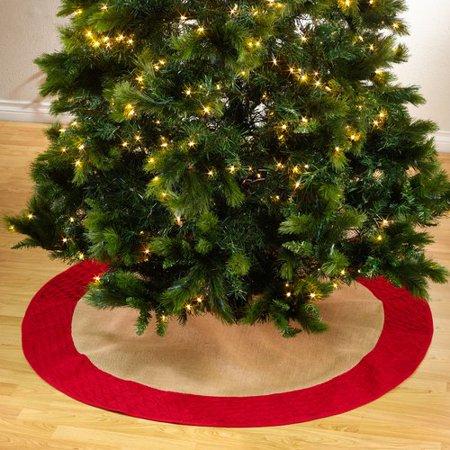Saro Kamala Diamond Pleated Christmas Stocking Tree Skirt