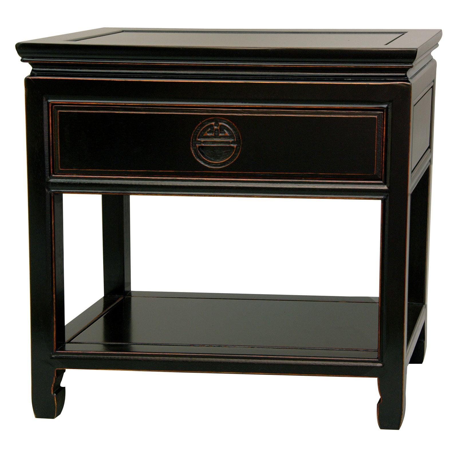 Rosewood Bedside Table, Antique Black