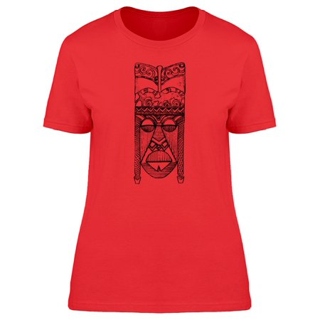 African Tribal Mask - African Tribal Mask Tee Men's -Image by Shutterstock