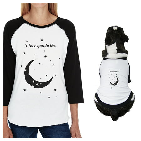 Moon And Back Small Dog and Mom Matching Outfits Raglan Tees - Police Dog Outfit