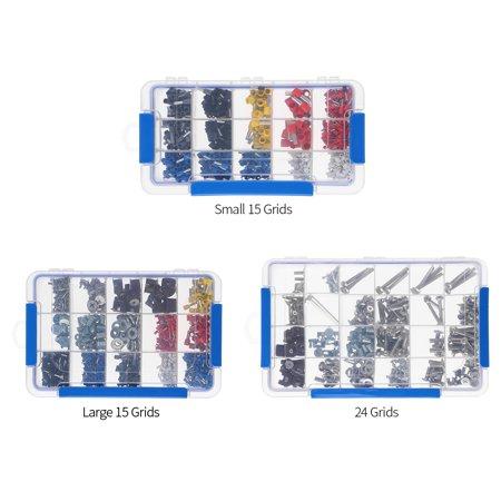 Boîte de rangement en plastique transparent Boîte multi-compartiments Slot Hardware Boîte à outils Organisateur de bijoux Boîte aux outils pour composants électroniques Boîte de pêche Accessoires de p - image 2 of 7