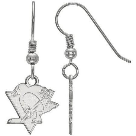 Logoart Nhl Pittsburgh Penguins Sterling Silver Small Dangle Earrings