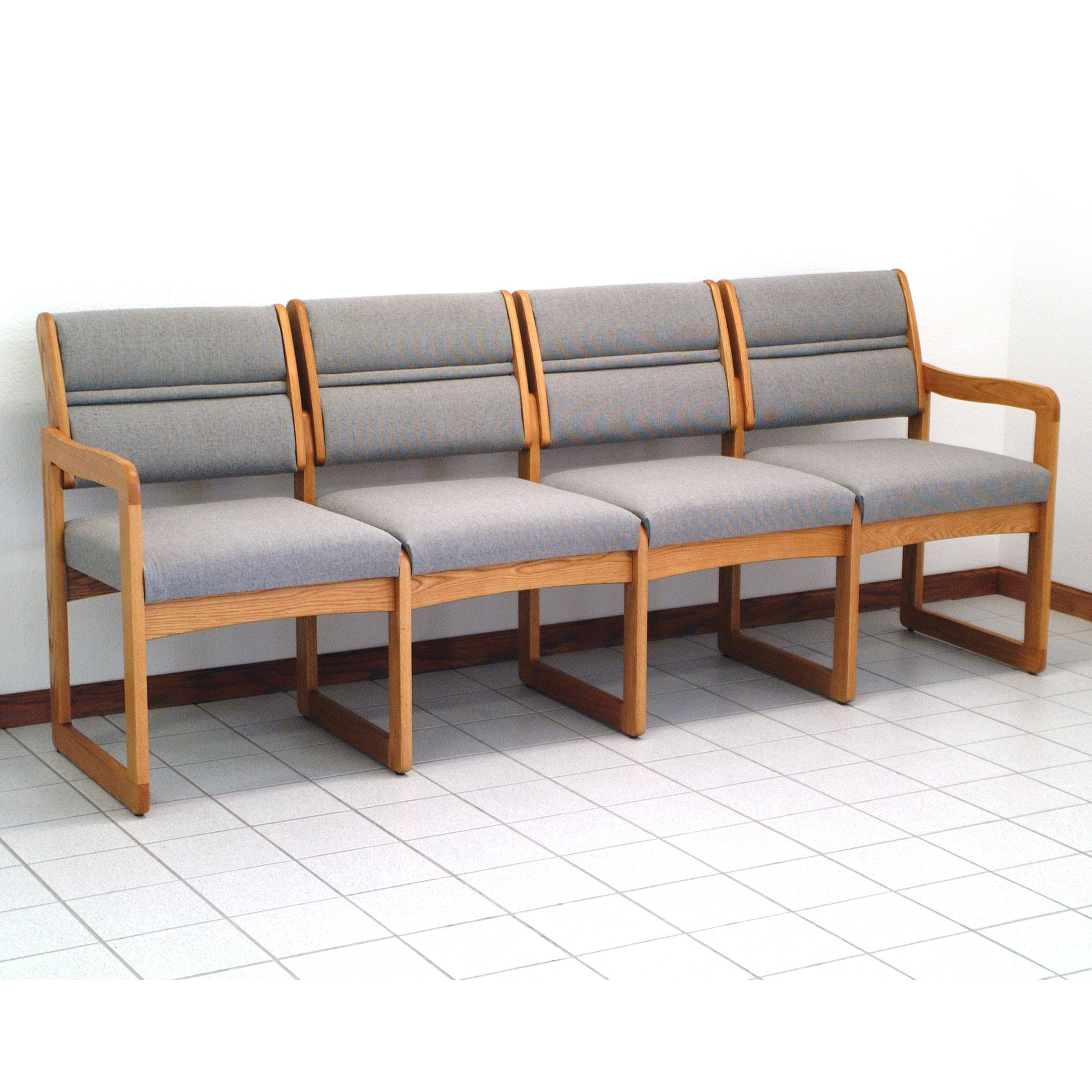 Wooden Mallet DW2-4 Solid Oak 4-Seat Sofa