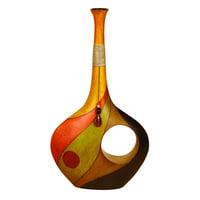 Decmode Eclectic 25 Inch Decorative Resin Swirl Vase
