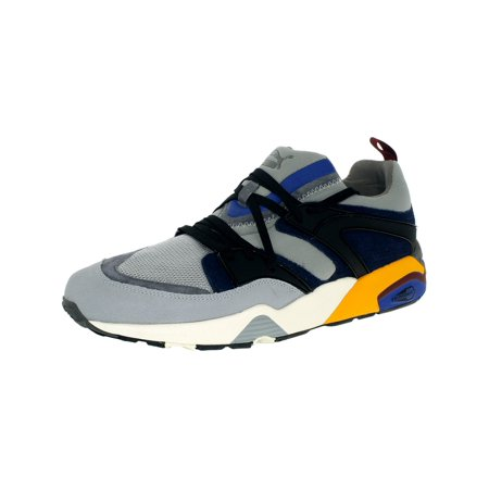 Puma Men's Blaze Of Glory Street Light Quarry/Peacoat Ankle-High Basketball Shoe -