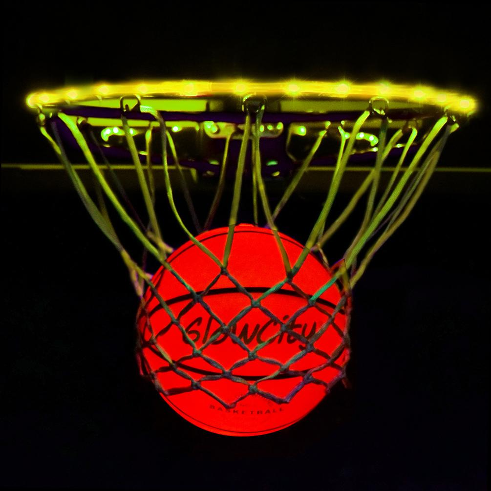 Ultra Bright LED Basketball With Glow In The Dark LED Rim Kit